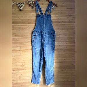 GAP 1969 Medium Skinny Overalls Denim Jean 100%