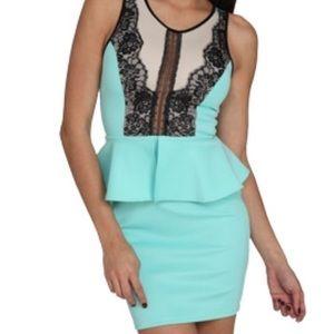 Arden B light blue peplum dress Size S