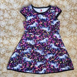 Love Rocks ❤️ girls Pouf dress with Unicorns