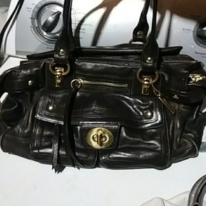 All leather authentic coach bag