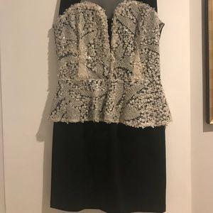 Foreign exchange peplum dress Size S