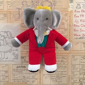 Holiday King Babar Plush