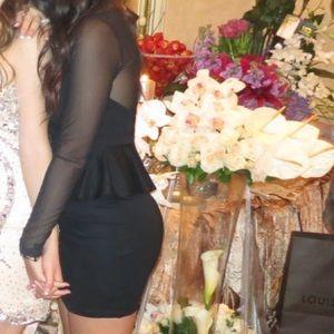 Forever 21 dress black Size S peplum