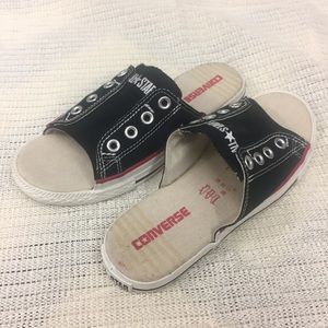 Converse All Star Cut Away Sneakers Slides Canvas