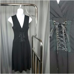 Black Stretchy Corset Dress