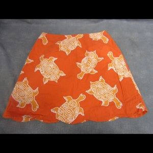 ORANGE LILLY PULITZER SIZE 2 SKIRT