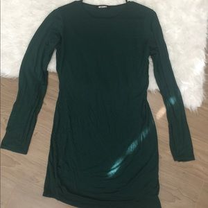 Missguided long sleeve midi dress size L