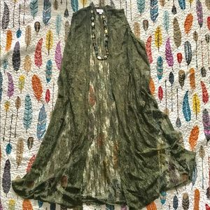 Lularoe Joy Army Green Lace Joy