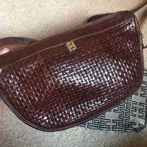 Fendi vintage handbag, authentic, brown leather