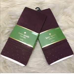 Kate Spade wine nylon trouser socks
