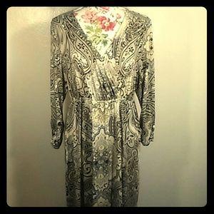 Style & Co extra large long sleeve boho dress