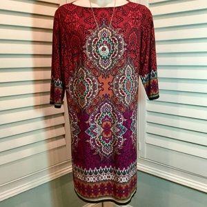 London Times Paisley Dress, Plus 20W, Like New