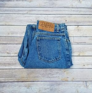 Vintage High Waisted Tapered Leg Jeans Size 10