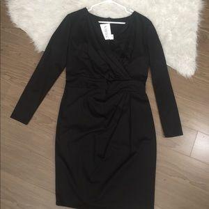 Plus size black midi dress long sleeve size 14