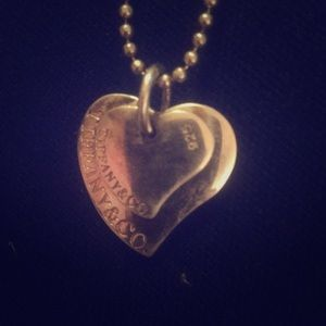 Tiffany and co. Solid heart necklace