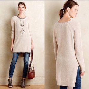 Anthropologie Moth Split Sweater Tunic