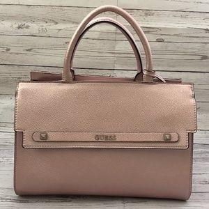 Rose Gold Front Pocket Satchel Handbag