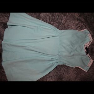 Teal Dress With Lace Back