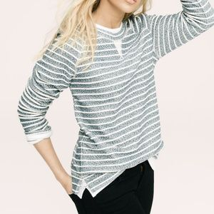 Lou & Grey Speckle Striped Pullover Sweater Sz M