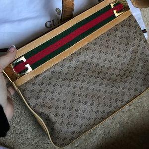 Gucci monogram vintage handbag, authentic!