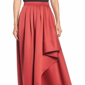 Eliza J cascade red ball skirt