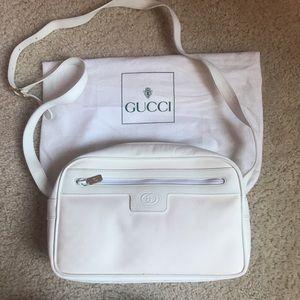 Gucci vintage white leather handbag, super elegant