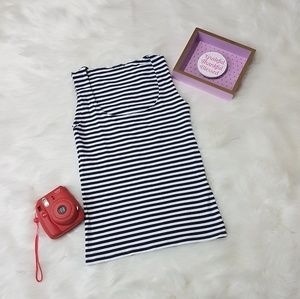 NWOT Zara - Navy/White Stripe Tank Top
