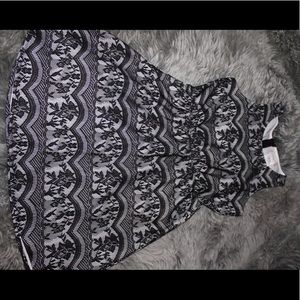 Child's Black And White Lace Dress