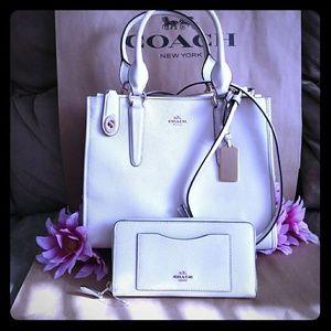 NWT Coach tote purse bag w/ wallet