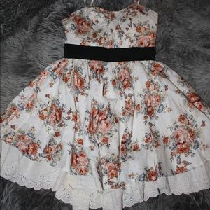 Floral Dress With a Poofy Skirt.