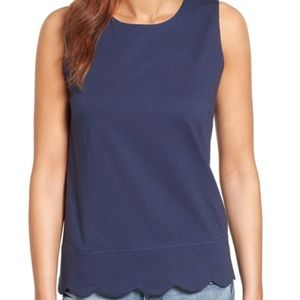 Halogen Scalloped Top NWT