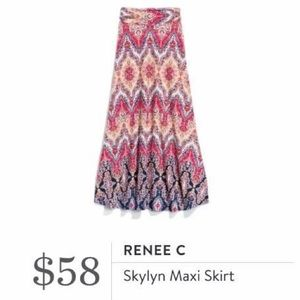 Renee C Skylyn Maxi Skirt