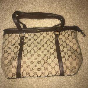 Gucci vintage monogram brown bag perfect condition