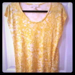 MK yellow tie dye print