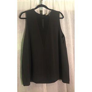 NWT Michael Kors Black Deep V Sheer Too XL