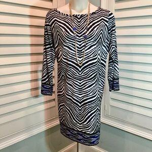 Michael Kors Zebra Print Dress, 3X, Like new