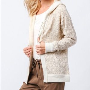 Kinnucans knit zip up hoodie