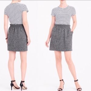 J.Crew grey herringbone skirt