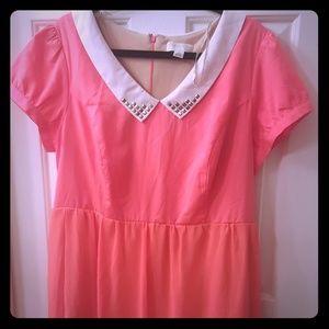 Forever 21 + plus size neon orange dress
