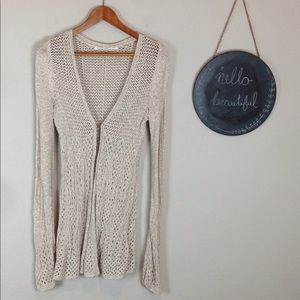 Knitted & Knotted Long Cardigan Size M Crochet