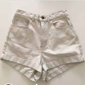 American Apparel Ultra Light Wash Jean Shorts