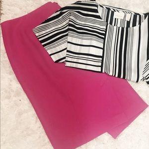 HALOGEN Modern Hot Pink Pencil Skirt w/ Lining 16