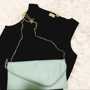 NORDSTROM CASLON Black Top Silk Size Medium