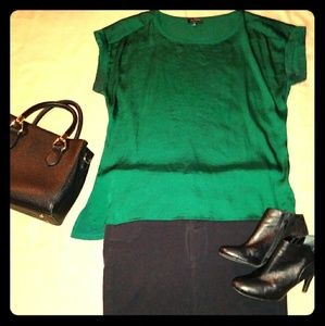 Tops - Emerald Green Top from the Limited.