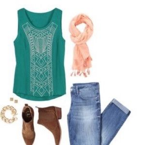 Papermoon Rylie Embroidery Detail Tank