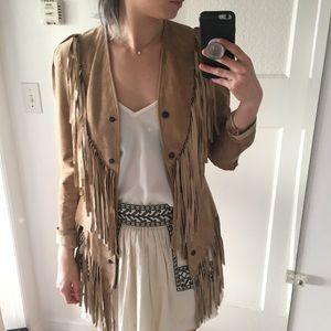 Reformation leather/suede hippie jacket
