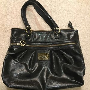 Coach Poppy Liquid Patent Leather Gloss Glam Tote!