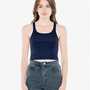 AA 2x2 Racerback Crop Tank in Navy