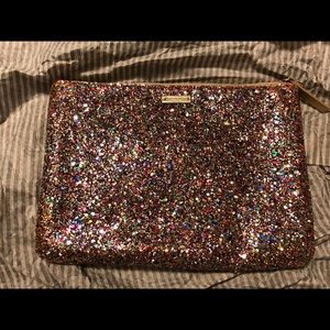 NWOT Kate Spade Rainbow Glitter Pouch