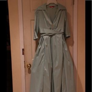 Fit And Flare Long Dress (Dry Cleaned)
